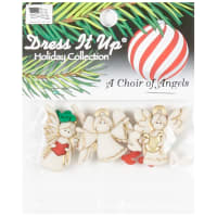Dress it Up Embellishment Buttons A Choir of Angels Button Pack