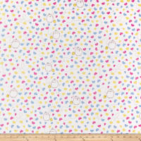 Riley Blake Lisc Collections Molang Butterflies White