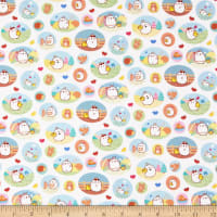 Riley Blake Lisc Collections Molang Patches White
