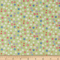 Riley Blake Lisc Collections Molang Flowers Green