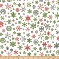 Riley Blake Christmas Snowflakes Designer Flannel Cream