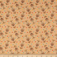 Riley Blake Forest Animals Arrows Designer Flannel Orange