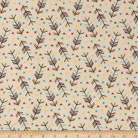 Riley Blake Forest Animals Arrows Designer Flannel Tan