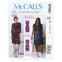 McCall's M7861 Learn to Sew for Fun Misses' and Women's Dresses B5 (Sizes 8-16)