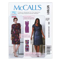 McCall's M7861 Learn to Sew for Fun Misses' and Women's Dresses RR Sizes (18W-20W-22W-24W)