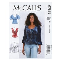 McCall's M7870 Misses' Tops A5 (Sizes 6-14)