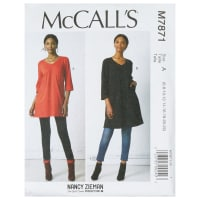 McCall's M7871 Nancy Zieman Misses' Tunic and Dress A (Sizes 6-22)
