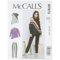 McCall's M7873 Misses' Tops and Pants Y (Sizes XS-S-M)