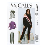 McCall's M7873 Misses' Tops and Pants ZZ (Sizes L-XL-XXL)