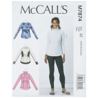 McCall's M7874 Misses' Tops and Leggings ZZ (Sizes L-XL-XXL)