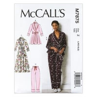 McCall's M7875 Misses' Jacket, Robe, Pants and Belt Z (Sizes L-XL)