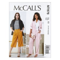 McCall's M7876 Misses' Jackets and Pants E5 (Sizes 14-22)