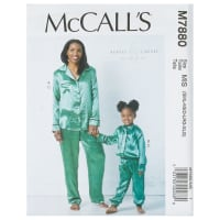McCall's M7880 Beaute' J'Adore Misses'/Child/Girls/Tops/Pants (Sizes 3-4, 5-6, 7-8 Kids)