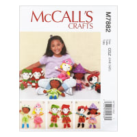 McCall's M7882 McCall's Crafts Dolls OSZ (One Size)