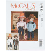 """McCall's M7883 McCall's Crafts Clothes, Hat and Belt For 18"""" Doll OSZ (One Size)"""