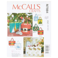 McCall's M7884 Create It! Holiday Gift Bags OSZ (One Size)