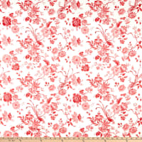 Liberty Fabrics Tana Lawn Jannah Cream/Red