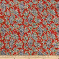 Liberty Fabrics Tana Lawn Palm Paisley Red/Purple
