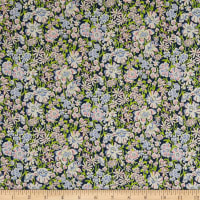 Liberty Fabrics Tana Lawn White Garden Purple/Multi