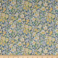 Liberty Fabrics Tana Lawn White Garden Yellow/Multi