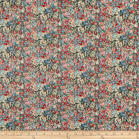 Liberty Fabrics Tana Lawn Virginia Meadow Green/Orange