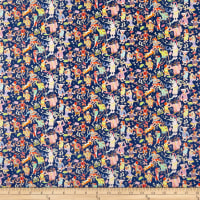 Liberty Fabrics Tana Lawn Dapper Dogs Blue