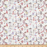 Liberty Fabrics Tana Lawn Dapper Dogs White