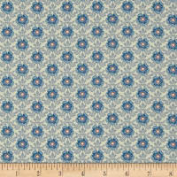Liberty Fabrics Tana Lawn Royal Rose Blue