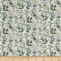 Liberty Fabrics Tana Lawn Set Sail Green/Grey