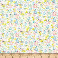 Liberty Fabrics Tana Lawn Set Sail Pink/Yellow
