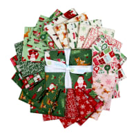 Riley Blake Merry And Bright Fat Quarter Bundle  21 Pcs