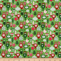 Riley Blake Merry And Bright Ornaments Light Green