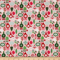 Riley Blake Merry And Bright Ornaments Pink