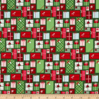 Riley Blake Merry And Bright Presents Green