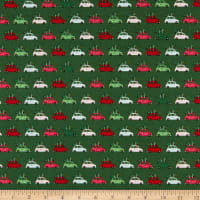 Riley Blake Merry And Bright Cars Green