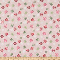 Riley Blake Merry And Bright Snowflakes Pink