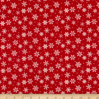Riley Blake Merry And Bright Snowflakes Red