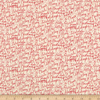 Riley Blake Merry And Bright Words Cream