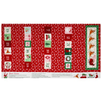 "Riley Blake Merry And Bright 24"" Panel Red"