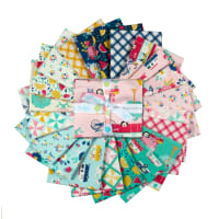 Riley Blake Glamping Fat Quarter Bundle, 21 Pcs