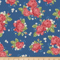 Penny Rose Harry & Alice Go To The Sea Floral Blue