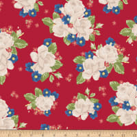 Penny Rose Harry & Alice Go To The Sea Floral Red