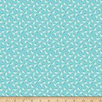 Penny Rose Storytime 30s Kitties Teal
