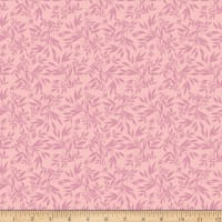 Riley Blake Blooms And Bobbins Leaves Pink