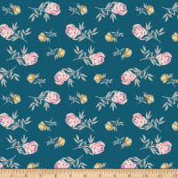 Riley Blake Blooms And Bobbins Rose Blue