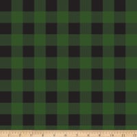 Riley Blake Gone Camping Plaid Green