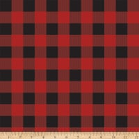 Riley Blake Gone Camping Plaid Red