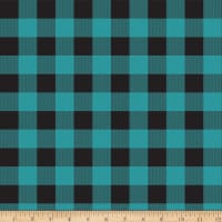 Riley Blake Gone Camping Plaid Teal