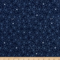 Riley Blake Something Borrowed Petals Navy