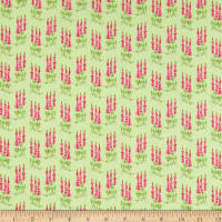 Riley Blake Sweet Melody Tall Flowers Light Green